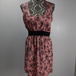 Needle & Thread dress size L rayon flare